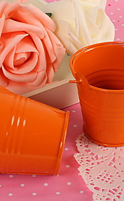 Mini Orange Wedding Party Favor Candy Box Seau Seau Favor Set-de 12