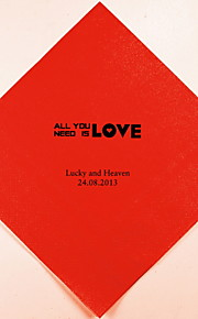 Boda personalizada Servilletas All You Need Is Love (más colores) Juego de 100