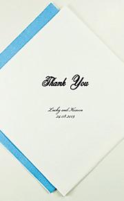 Servilletas de boda personalizados le agradecen Classic (más colores) Juego de 100