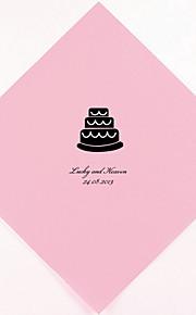 Boda personalizada Servilletas Pastel (más colores) Juego de 100