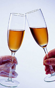 Crystal Glass Toasting Flutes