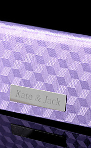 Gift Groomsman Personalized Lilac Checkered Pattern Cardcase