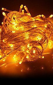 10M 100-LED Yellow Light LED juledekorasjon String Light (220V)