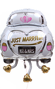 bruiloft decor auto metallic ballon - net getrouwd