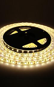 Vanntett 5M 60W 60x5050SMD 3000-3600LM 2800-3200K Warm White Light LED stripe lys (DC12V)