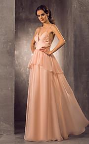 Vestido de Boda - Rosa Perla (el Color y Estilo pueden variar según su monitor) Corte en A Hasta el Suelo - Tirantes Espagueti GasaTallas