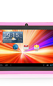 "8gb 7 ""a33 capacitieve Android 4.4 dual camera wifi tablet pc roze bundel case"