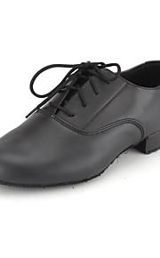 неэстонцами Настраиваемые Kids '/ Мужская танцевальная обувь бальные / современные кожзаменителя плоский каблук черный