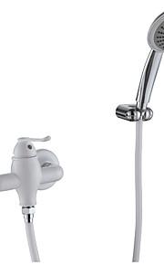 doccia rubinetto contemporanea pittura bianca finire tre fori singola cascata maniglia sidespray