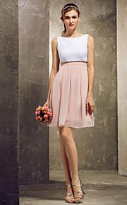 Homecoming Short/Mini Chiffon Bridesmaid Dress - Multi-color Plus Sizes A-line Bateau