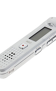 8GB 2.0USB Multi Language FM Tuner Professional Digital Voice Recorder Sølv