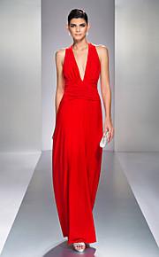 Formal Evening/Prom/Military Ball Dress - Ruby Plus Sizes Sheath/Column V-neck Floor-length Jersey