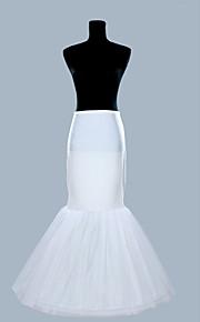Déshabillés Robe sirène et robe évasée Ras du Sol 1 Polyester Organza Blanc