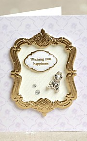 """""""Wishing You Happiness"""" Lilac Side Fold Greeting Card for Mother's Day"""