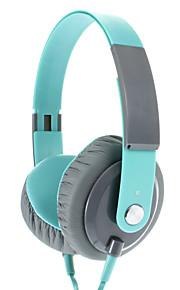 EP12 Modieuze 3,5 mm On-ear hoofdtelefoon met microfoon (groen)
