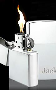 personlig fars dag gave indgraveret sølv olie lighter