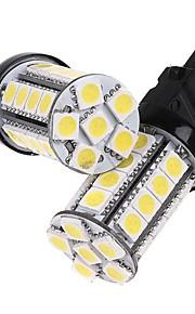 2 piezas 3157 Blanco 30 5050 bombilla de la lámpara de parada del freno del coche LED SMD