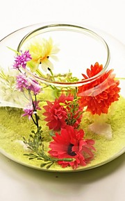 thème de jardin deocrations de table de vase en verre transparent (sable inclus, fleurs non inclus)
