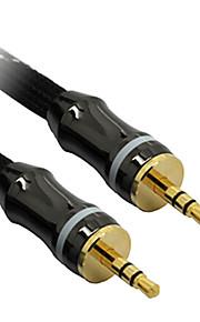 C-cavo AUX 3,5 millimetri M / M Cavo audio Nero Net-Plated (1M)