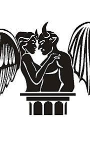 Angel og Demon Mønster Dekorative Bil Klistermærke