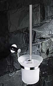 Solid Brass Toilet Brush Holder with Brush