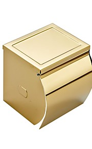 Gold-plating Thick Stainless Steel Waterproof Tissue Holder