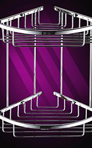 Silber Messing Dreiecks Double-Layer-Corner Storage Basket
