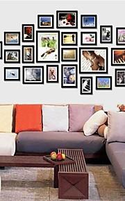 Frame Collection Negro foto de la pared Juego de 26