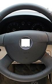 Xuji ™ Black echt leder stuurhoes voor Volkswagen Passat B6