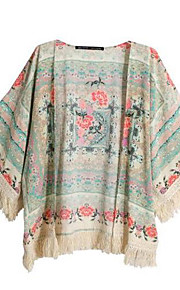Standard - Undurchsichtig - Bedruckt - Bluse ( Baumwolle )