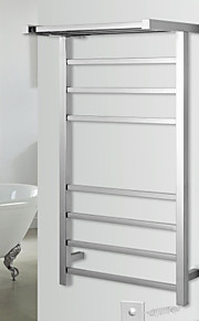 70W Towel Warmer Stainless Steel Mirror Polished Drying Rack Wall Mount