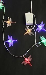 40 LED 5M multicolore de libellule Changement de couleur cordes Guirlande lumineuse pour le mariage de fête de Noël
