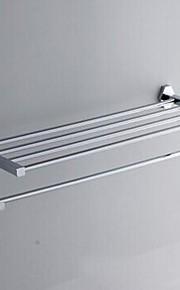 Sólidos Polido Prateleira de bronze Banheiro Chrome Com Bar Toalha