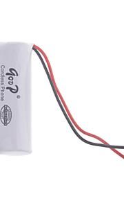 """2.4V """"1200mAh"""" Oplaadbare draadloze telefoon vervangende batterij"""