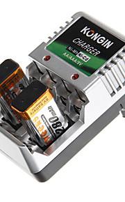 9V 300mAh Genopladelig Ni-MH Batteri Med Oplader 1 pcs
