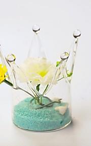 tabellen center krone glass vase bord deocrations (blomster ikke inkludert, sand ikke inkludert)