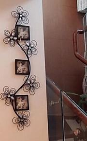 pared de metal decoración de la pared del hierro arte de la decoración de la pared romántico marco de fotos de lujo