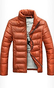 Men's New Fashion Stand Collar Long Sleeve Windproof Pure Down Jacket.