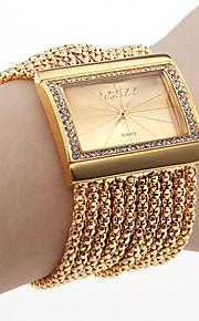 Damen Uhr, Armband im Diamant Stil (Gold)