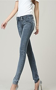 סקיני ג'ינס ג'ינס מותן הגבוה של נשים