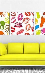 étirées personnes impression sur toile d'art signes de l'amour ensemble de trois