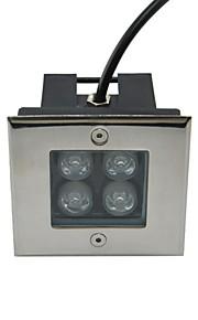 4pcs conduit puissance 4w haute souterrain lampe extérieur carré (AC85-265V)