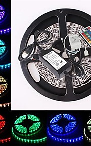 vanntett 5m 300x5050 SMD RGB LED stripe fleksibel lys + rgb 44key fjernkontroll (AC100-240V)