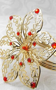 12 세트 여섯 꽃잎 냅킨 링, 아크릴 beades, 세로 4.5cm, 꽃