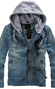 Men's Korean Style Fashion Denim Jacket Coat