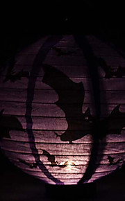 conduit lanterne citrouille style cartoon lumière 1 papier à motif de chauve-souris