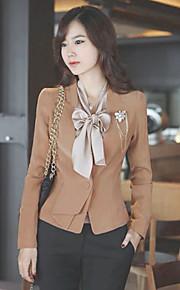 OuRuoFu Women's Slim Fit Long Sleeve Outwear (Lower Hem Pattern Random)