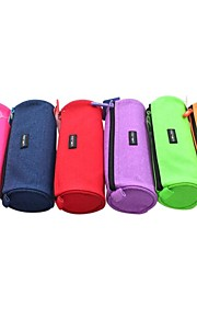 uslon® lærred farve cylinder pen taske for studerende