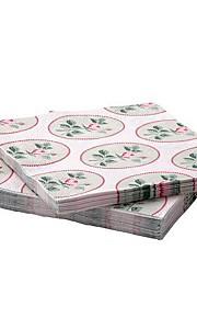 rose mønster papir serviet jomfrupulp 30-stykke 33x33cm