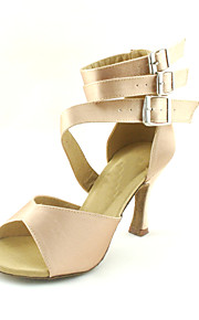 Customized Women's Triple Strap Satin Dance Performance Shoes (More Colors)